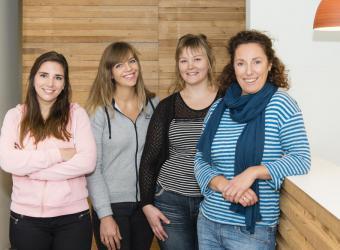 Dierenarts Joke Pottie Gistel, Eva Gossieaux, Ilse Kerckhof, Justine Beernaert